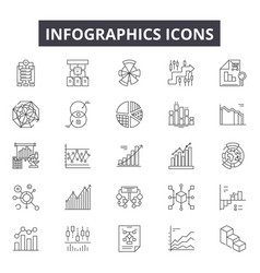 infographic line icons for web and mobile design vector image