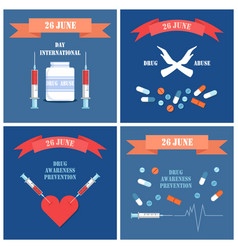 international day against drug posters vector image