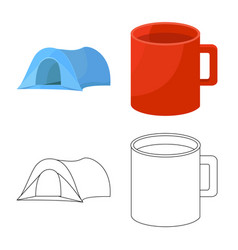 Isolated object tourism and excursions icon vector