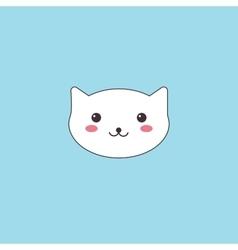 Kawaii muzzle cute cat vector