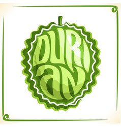 Logo for durian vector