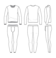 Long sleeved shirt and training tights vector