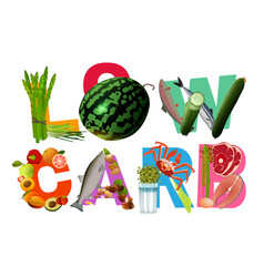Low-carbohydrate diet heading vector