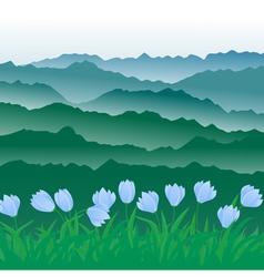 meadow 3 vector image