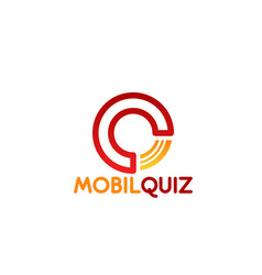 Mobil quiz letter q icon vector