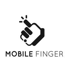 mobile finger logo vector image