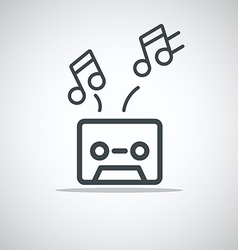 Modern media web icon Audio cassette vector image