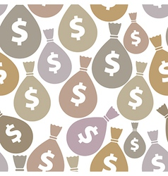 Money bags seamless background vector