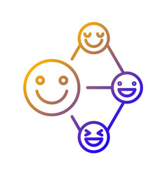 Networking talent gradient linear icon vector