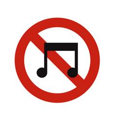 No music vector