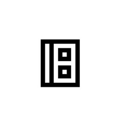Number 18 icon design vector