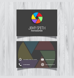 Photography business card design vector