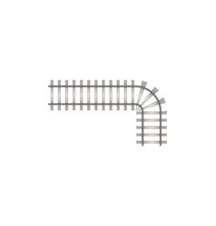 Piece of railway road vector