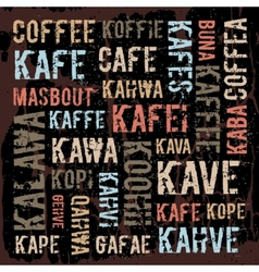 Poster decorative panels labeled coffee in vector image