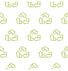 recycle outline green symbol pattern seamless vector image