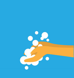 Sanitizing with washing your hands design vector