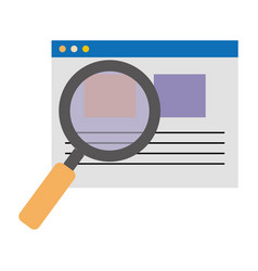 Search magnifying glass with template vector