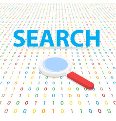 Search the internet on a digital background vector