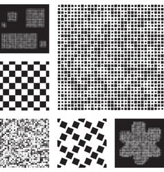 Set of abstract patterns with squares vector