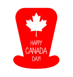 Silhouette of a party hat canada day vector