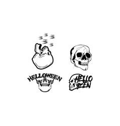 Skull head halloween element halloween vector