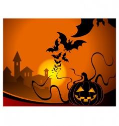 smiling pumpkin vector image