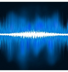 Sound waves oscillating glow light vector