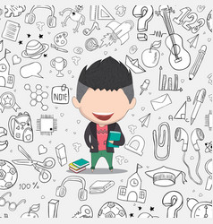 student boy idea on school and education vector image