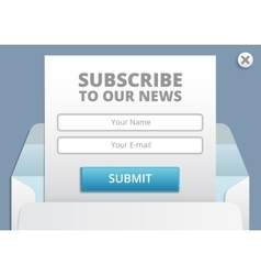 Subscribe to newsletter web and app form vector image