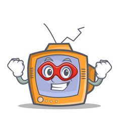 Super hero tv character cartoon object vector