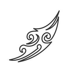 Tattoo image linear icon vector