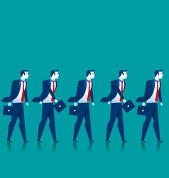 Teamwork businessmen walk vector