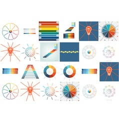 Templates for Infographics set 9 10 vector image