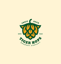 Tiger hops logo vector