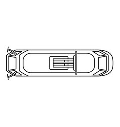 top view tram icon outline style vector image