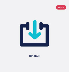 two color upload icon from arrows 2 concept vector image