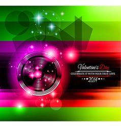 Valentines disco vector
