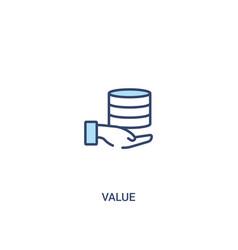 Value concept 2 colored icon simple line element vector