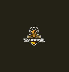 warrior logo icon emblem vector image