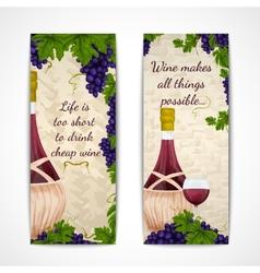 Wine banners vertical vector image