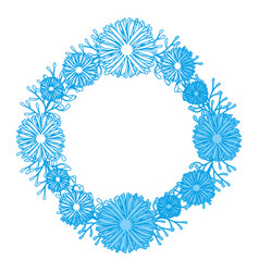 Wreath of flowers icon vector