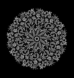 Zentangle mandala page for adult colouring book vector