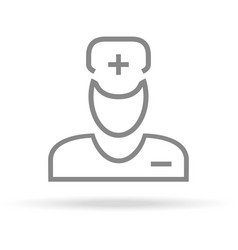 doctor medical care icon in trendy thin line vector image vector image
