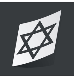 Monochrome star of david sticker vector