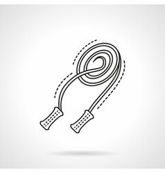 Skipping rope line flat line icon vector image