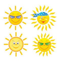 suns set vector image vector image