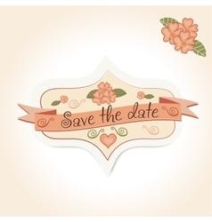 vintage wedding badge for decoration of vector image vector image