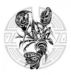 zodiac signs cancer vector image vector image