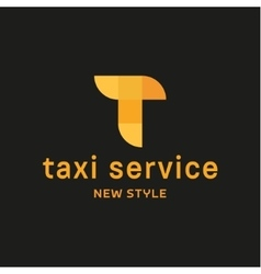 Abstract geometrical Taxi Service vector image vector image