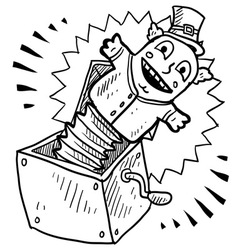 doodle jack in the box vector image